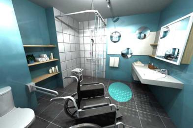 Amenagement salle de bain pour personne a mobilite reduite ...